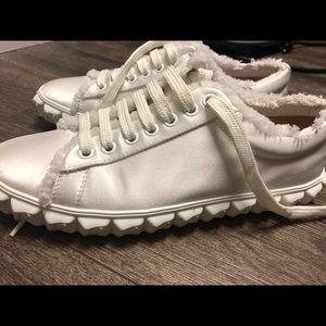 Authentic Stuart Weitzman white sneakers